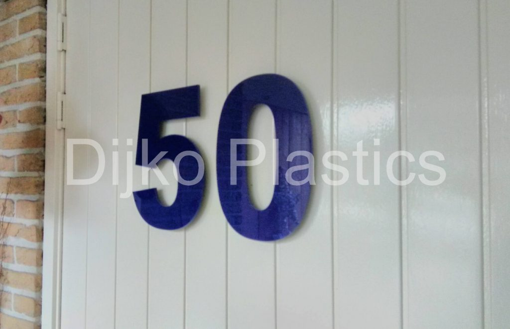 Huisnummer acrylaat